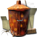 Steampunk Recycle Bin Icon by yereverluvinuncleber