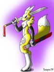 Renamon with sword by Reagan700