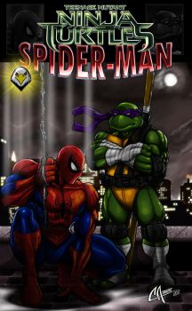 Spiderman And TMNT by CarbertArtwork