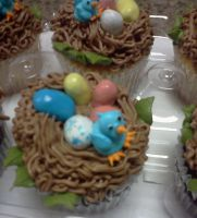 Birds Nest Cupcakes by MooreCake