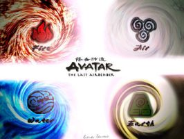 The 4 elements of avatar by kattangforever