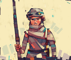 Rey-a-Day 19 Goggles Wrap by michaelfirman
