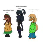 Slimy, Flasher and Sleazy's Daughters of 2014 by Elzathehedgehog