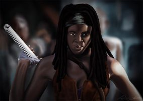Michonne - The Walking Dead by jokerproduct
