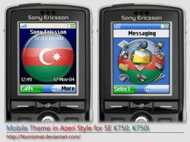 Azeri theme for SE K750i by Numizmat