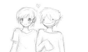Pewdie and cry sketch by kawaiichibi7