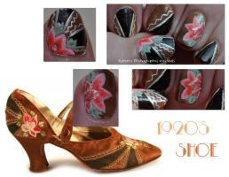 1920s Shoe Nail Design by RobertsPhotography