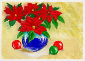 Poinsettias #2 by Brightstone