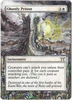 Magic Card Alteration: Ghostly Prison by Ondal-the-Fool