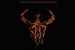 3D UV Bodypaint. The Dragsterbot by VictoriaGugenheim