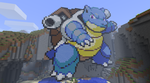 Minecraft Blastoise by SirEschaton