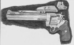WIP5:  Colt Anaconda in graphite pencil 11/18/2012 by ChrisDutton