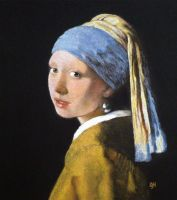 Girl with a Pearl Earring in pastel by SteveHargreaves