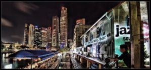 raffles place pano hdr by inckurei