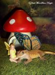 TRUFFLE THE GECKO-FAIRY by Heather-Chrysalis