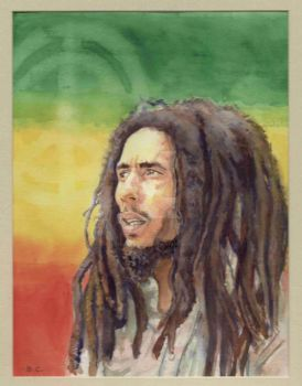 Bob Marley Watercolor by theBearChild