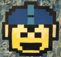 Megaman 1-Up Painting by paintmeaperfectworld