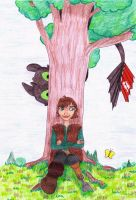 Hiccup lost in his thoughts - Prize by MoonyMina