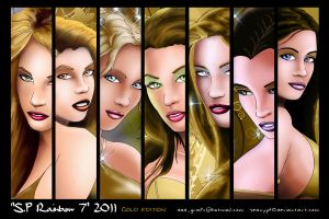 Rainbow 7 GOLD Edition Poster by SeanyP40