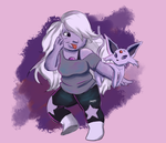 Amethyst and Espeon by tokyoterrorart