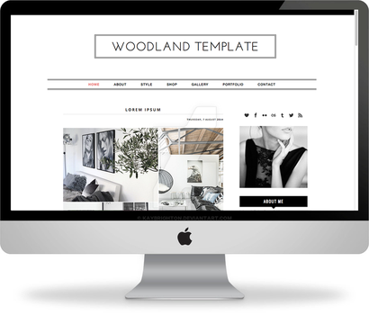 Woodland - Premade Blogger Template by kaybrighton