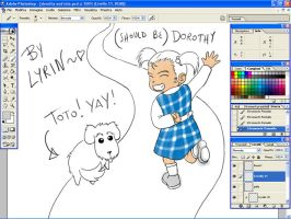 Dorothy and Toto WIP by Lyrin-83
