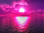 Purple Sunset Over The Ocean by tommyqwerty