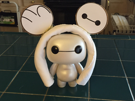 Custom-made Baymax mouse ears by Cartuneslover16