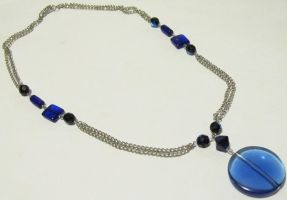 Blue from the ocean necklace by AnaInTheStars