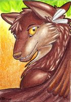 ACEO ShadowWolfGara by Ellie-theAzurea