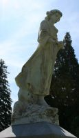 Mount Olivet Cemetery Woman 142 by Falln-Stock