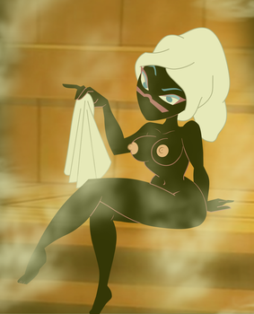 Commission: Martian Queen, Towel Off by grimphantom
