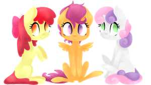 The Cutie Mark Crusaders by grandifloru