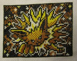 Jolteon Cross Stitch by silverdragoness