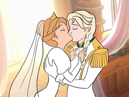 Elsanna wedding drawing 8 by Arendellecitizen