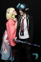 Ao no Exorcist: Shiemi and Rin by Bekumura