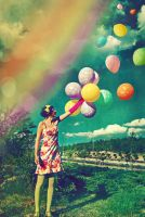 I Want to Fly With Rainbow by sevgihan