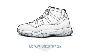 Air Jordan 11 'Columbia' by BBoyKai91