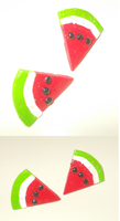 Watermelon Earrings by yo-yo09