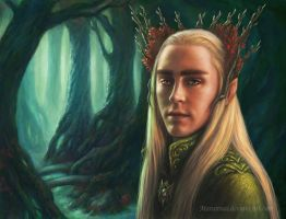 Thranduil (portrait) by marurenai