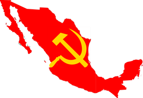 flag map of the Mexican Soviet Socialist Republic by ShitAllOverHumanity