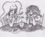 Empath and Erin Having a Teaparty by DerbyMask