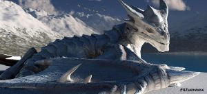 Snow dragon by FGZwergnase
