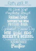Fonts Pack #1 by JessxFlyller