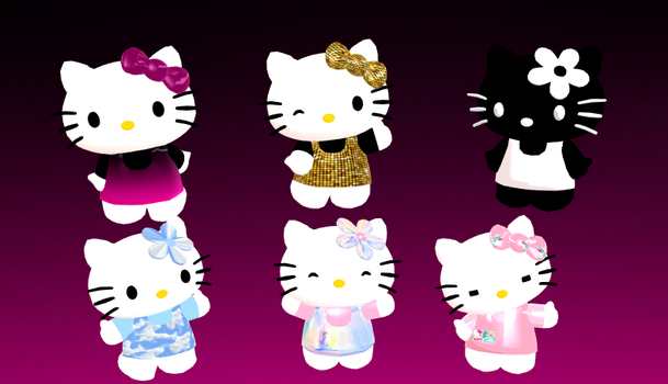 Hello Kitty Model Pack 2 + Download by Aira-Melody