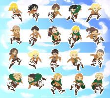 Attack on Titan: Tinies by Kittyotic