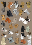 dog icons - TERRIER GROUP by shelzie