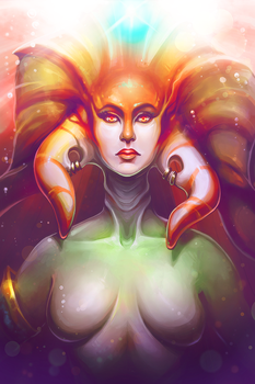 Naga Siren Portrait by ChemicalAlia