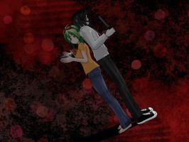 MMD-Jeff and Ashlee by SolarCrossover13