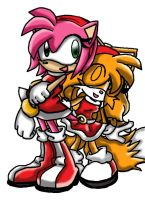 Amy and Ami - Bestest Friends by tailsfan1996